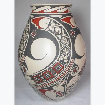 Mata Ortiz Pottery, Chihuahua Damian Quezada: Large Master Piece Mata Ortiz Pottery