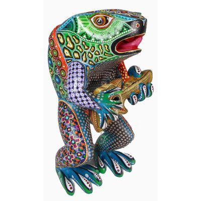 Oaxacan Wood Carving Manuel Cruz: Frog Frog