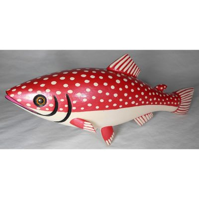 Oaxacan Wood Carving Ariel Playas: Salmon Oaxacan Woodcarving