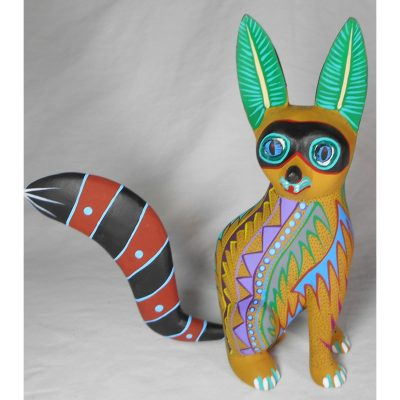 Oaxacan Wood Carving Orlando Mandarin: Raccoon Oaxacan Woodcarving