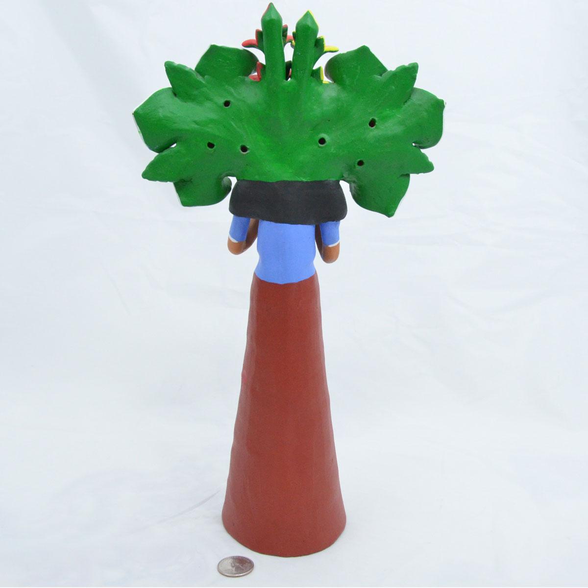 Aguilar Family Pottery: Estela Aguilar - Market Flower Vendor (Unsigned)