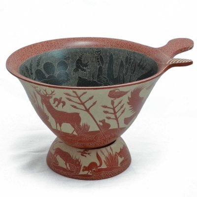 Angel Guerrero: Red and White Bowl
