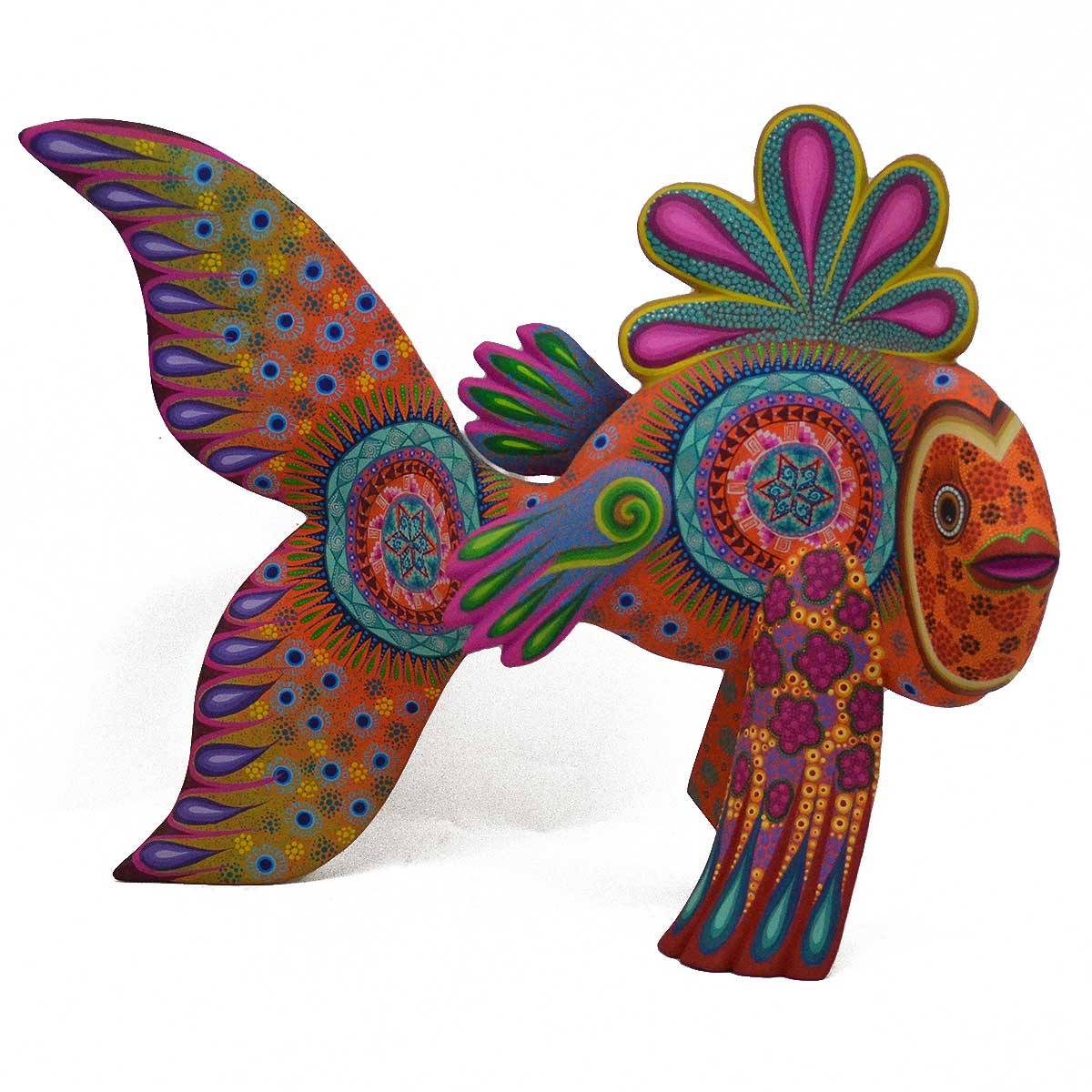 Ivan Fuentes and Mayte Calvo Fish Oaxacan Wood Carving