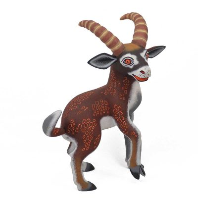 Oaxacan Wood Carving Eleazar Morales: Antelope African Animals