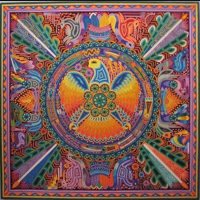 Wixárika (Huichol) Art Santos Daniel Carrillo Jimenez: Premier Huichol Yarn Painting Huichol