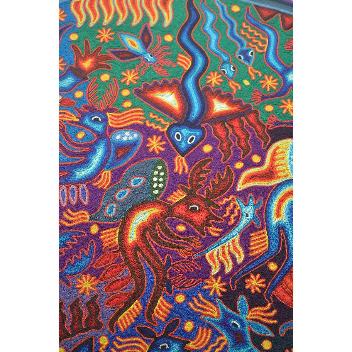 Wixárika (Huichol) Art Hilaria Chávez Carrillo: Huichol Yarn Painting Hilaria Chavez Carrillo