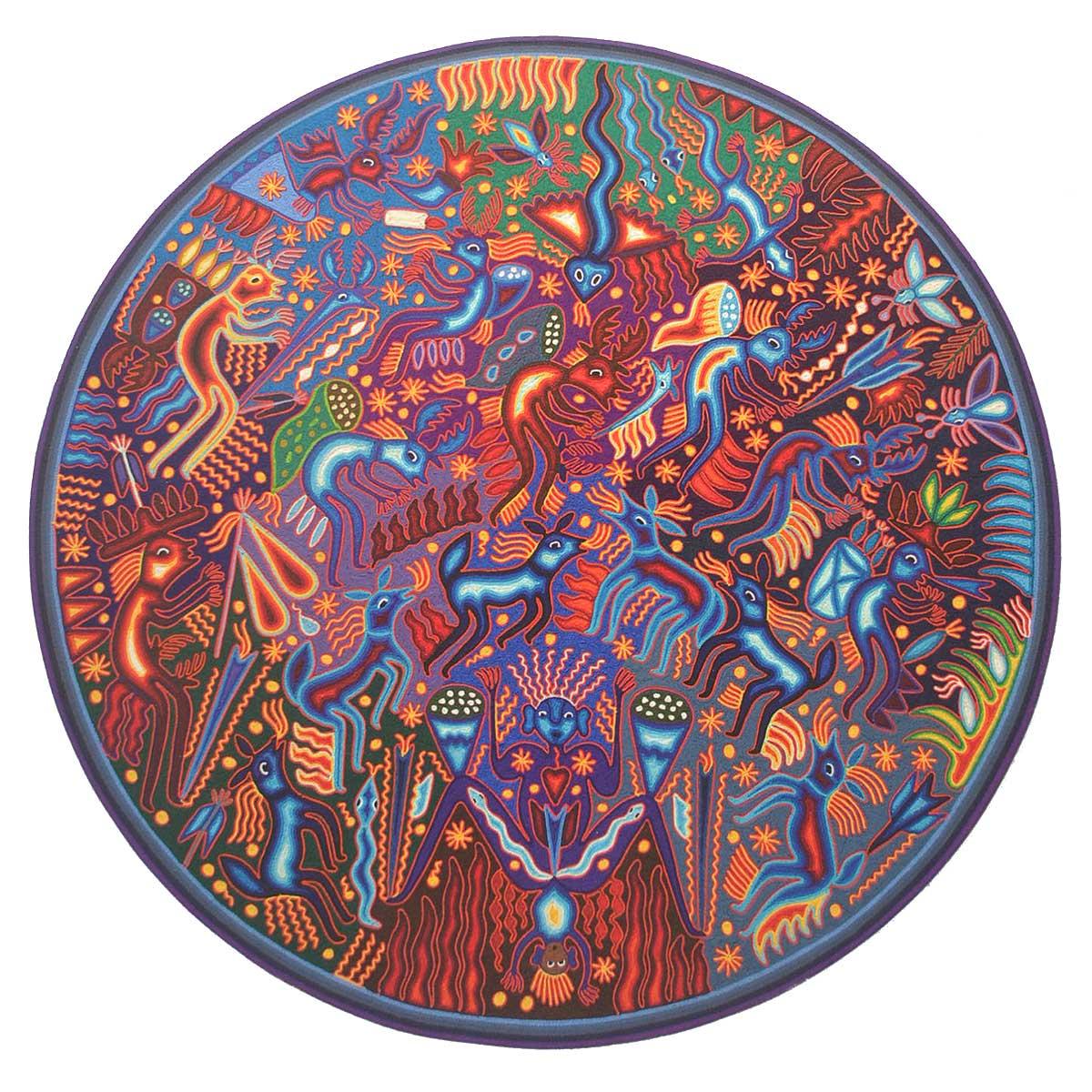 Hilaria Chavez Carrillo: Huichol Yarn Painting