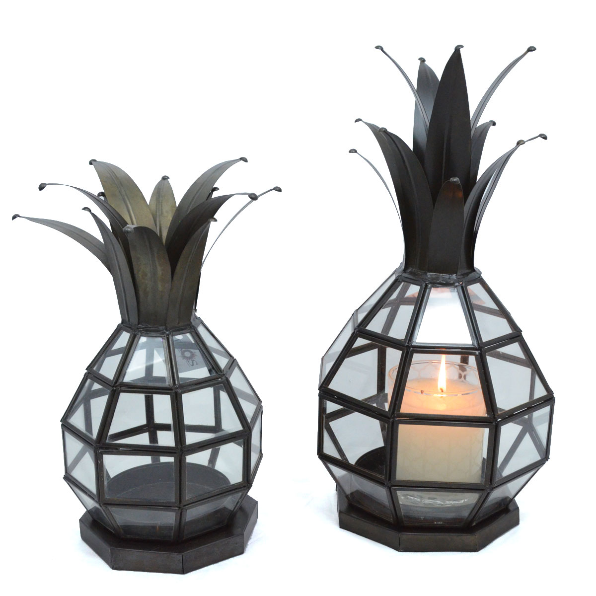 Paulo Cortes Higuera & Family: Small & Large Tin Work Pineapple Shaped Lantern