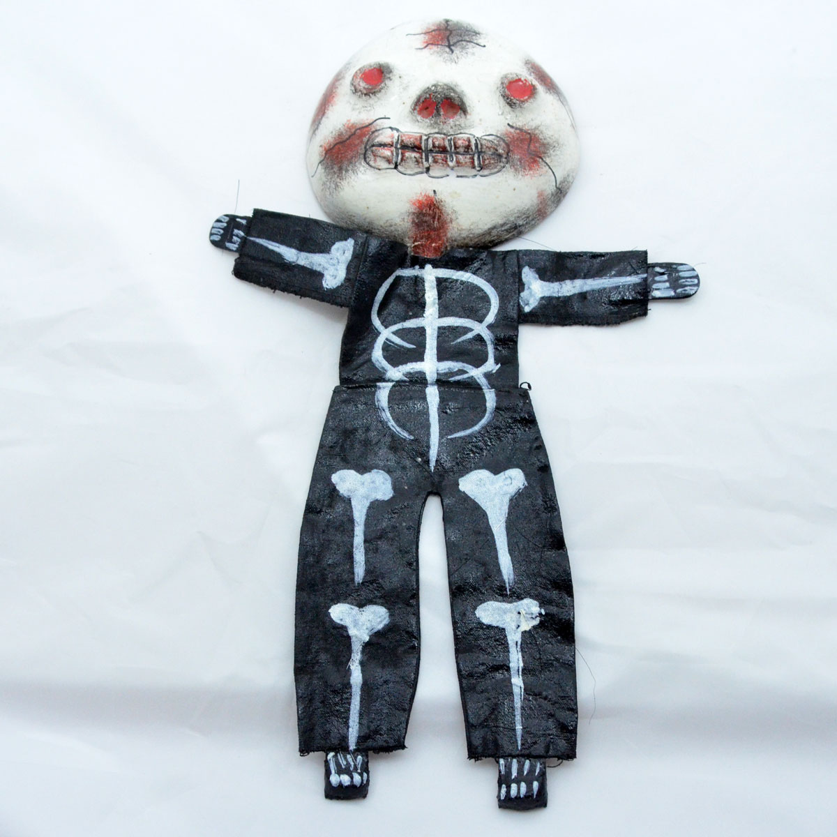 Unknown Artist: Coconut Doll Skeleton Red Face