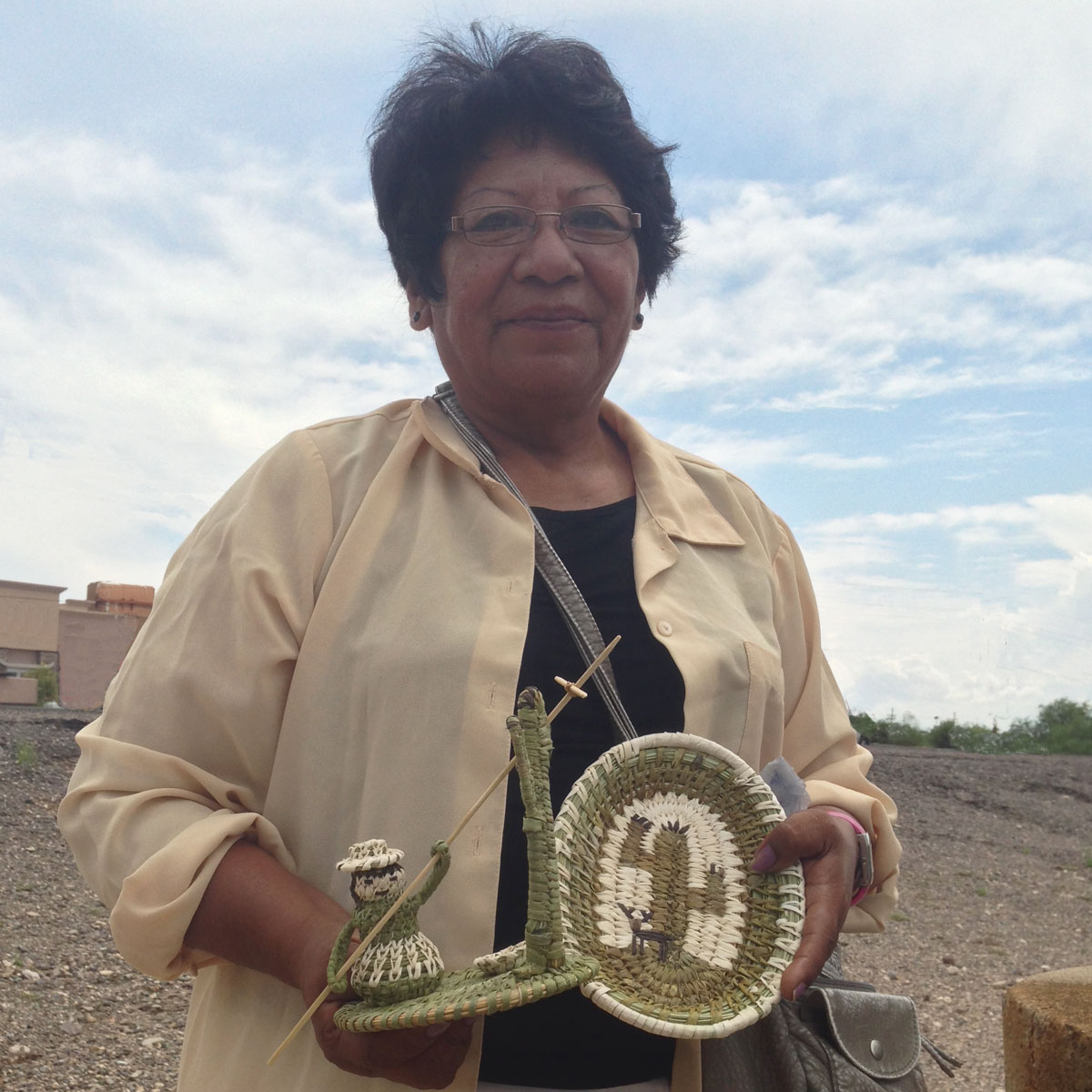 Fred and Della Cruz, Tohono O'odham: Saguaro Cactus Fruit Harvester
