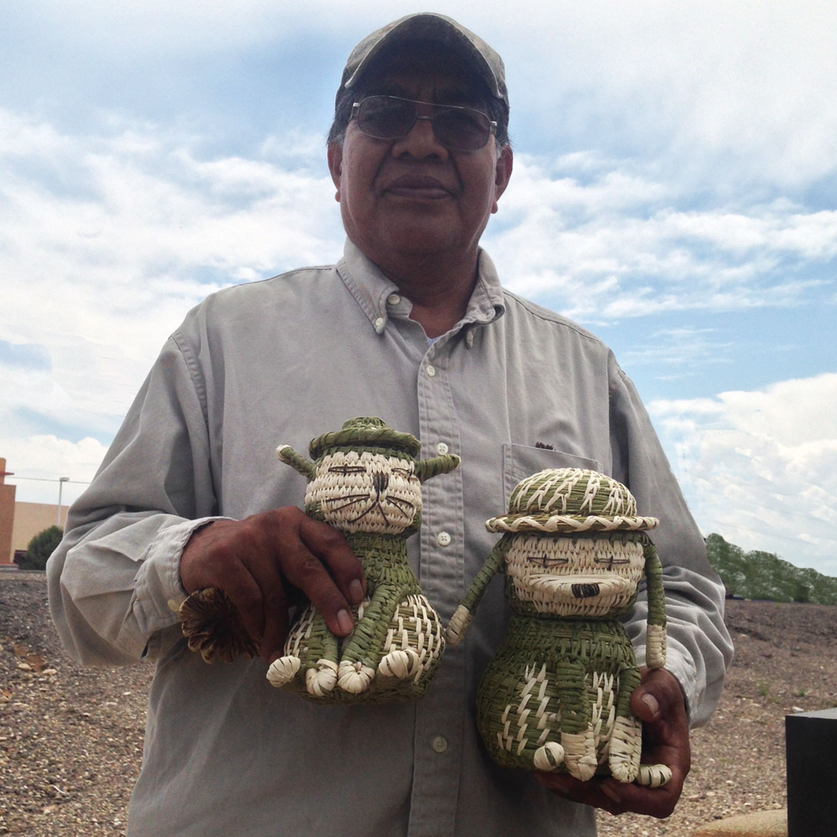 Fred and Della Cruz, Tohono O'odham: Quail Basket