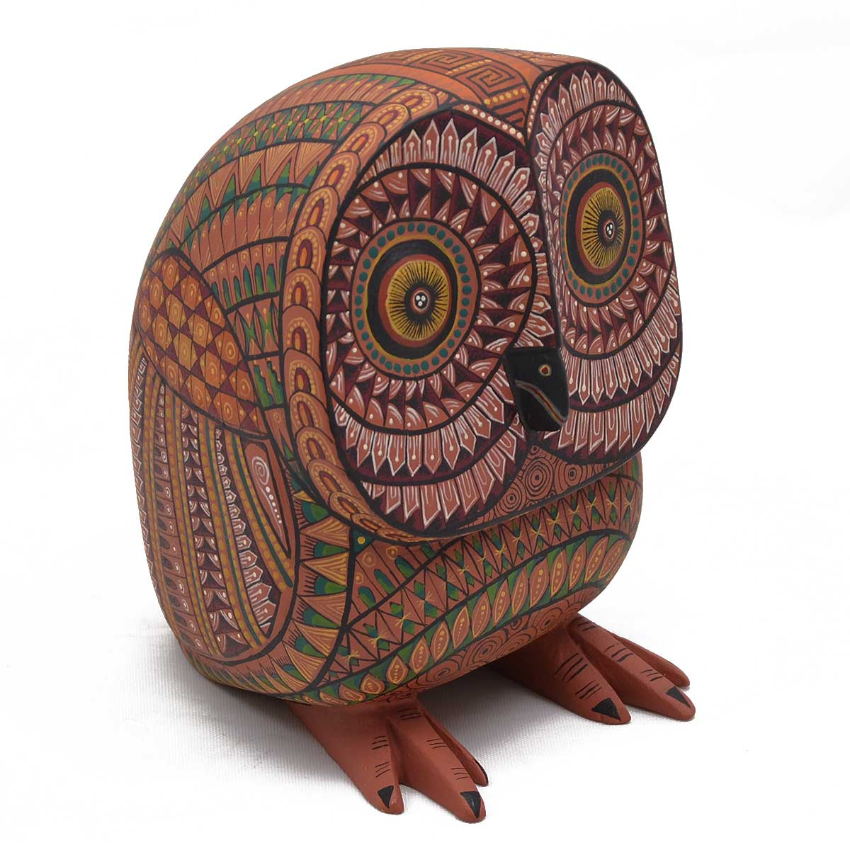 Oaxacan Wood Carving - Jacobo and Maria Angeles Owl