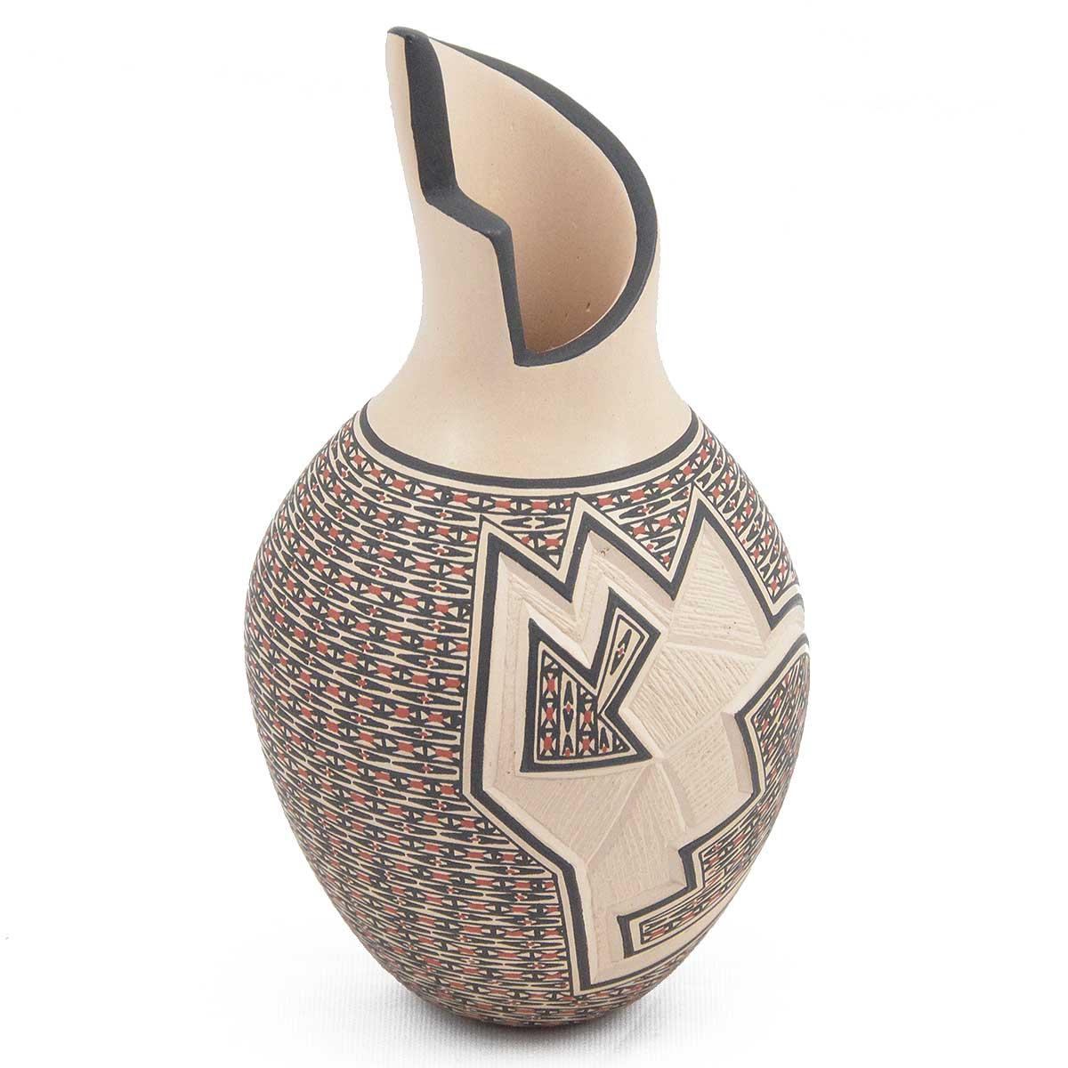 Karla Lopez Karla Lopez: Small Tall Neck Vase Etched
