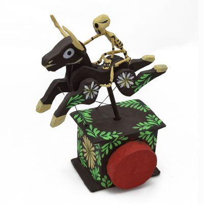 Cartoneria (Mexican Paper Mache) Josue Eleazar Castro: Bucking Bull cartoneria