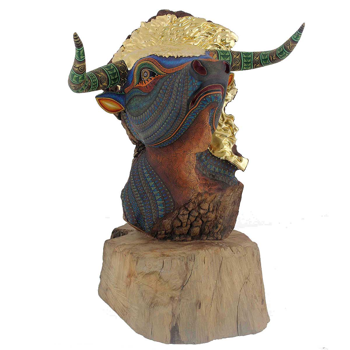 Jacobo and Maria Angeles Jacobo and Maria Angeles Workshop: Bull Head with Gold Leaf bulls