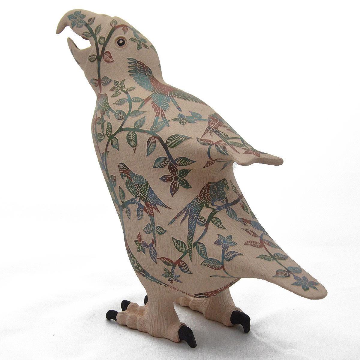 Nicolas Ortiz Jr.: Sgraffito Macaw Effigy