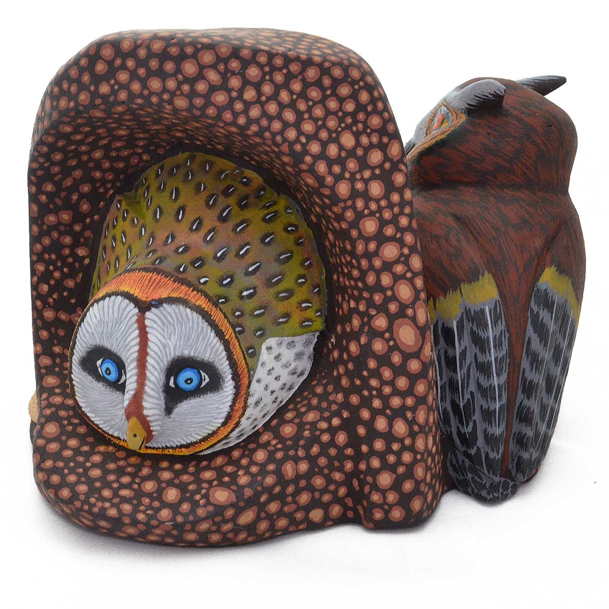 Eleazar Morales: Horned Owl, Mouse, Barn Owl Three Side ...