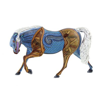 Santa Fe Show: Jacobo and Maria Angeles Workshop - Large Silver Leaf Horse