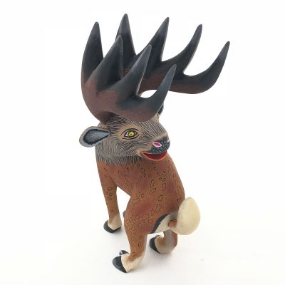 Oaxacan Wood Carving Eleazar Morales: Elk Eleazar Morales