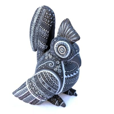 Ivan Fuentes & Mayte Calvo Ivan Fuentes & Mayte Calvo: Black, Gray and Silver Rooster chickens