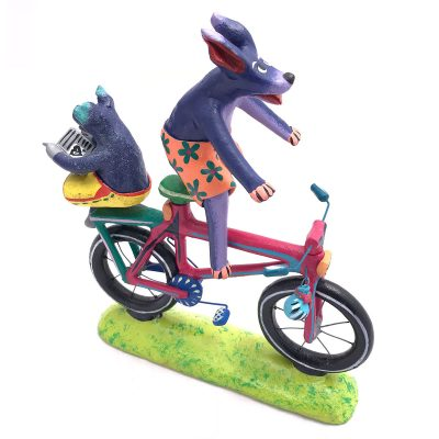 Gerardo Ortega & Family Gerardo Ortega & Family: Pig and Purple Dog Cyclist Fantasy