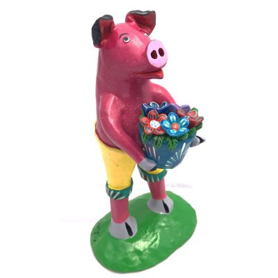 Gerardo Ortega & Family Gerardo Ortega & Family: Pig with Flowers Fantasy