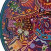 Wixárika (Huichol) Art Justo Benítez: Premier Huichol Round Multi Color Yarn Painting – Direct From Mexico Huichol