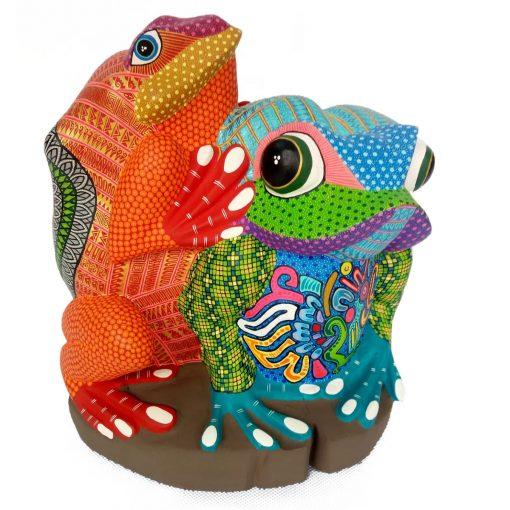 Mario Castellanos Gonzalez & Reina Ramirez Mario Castellanos & Reina Ramirez: Single Piece Pair of Glyph Frogs Frog