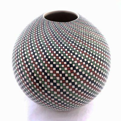 Jose Martinez Cano Jose Martinez Cano: Rare Round Geometric Pattern Geometric