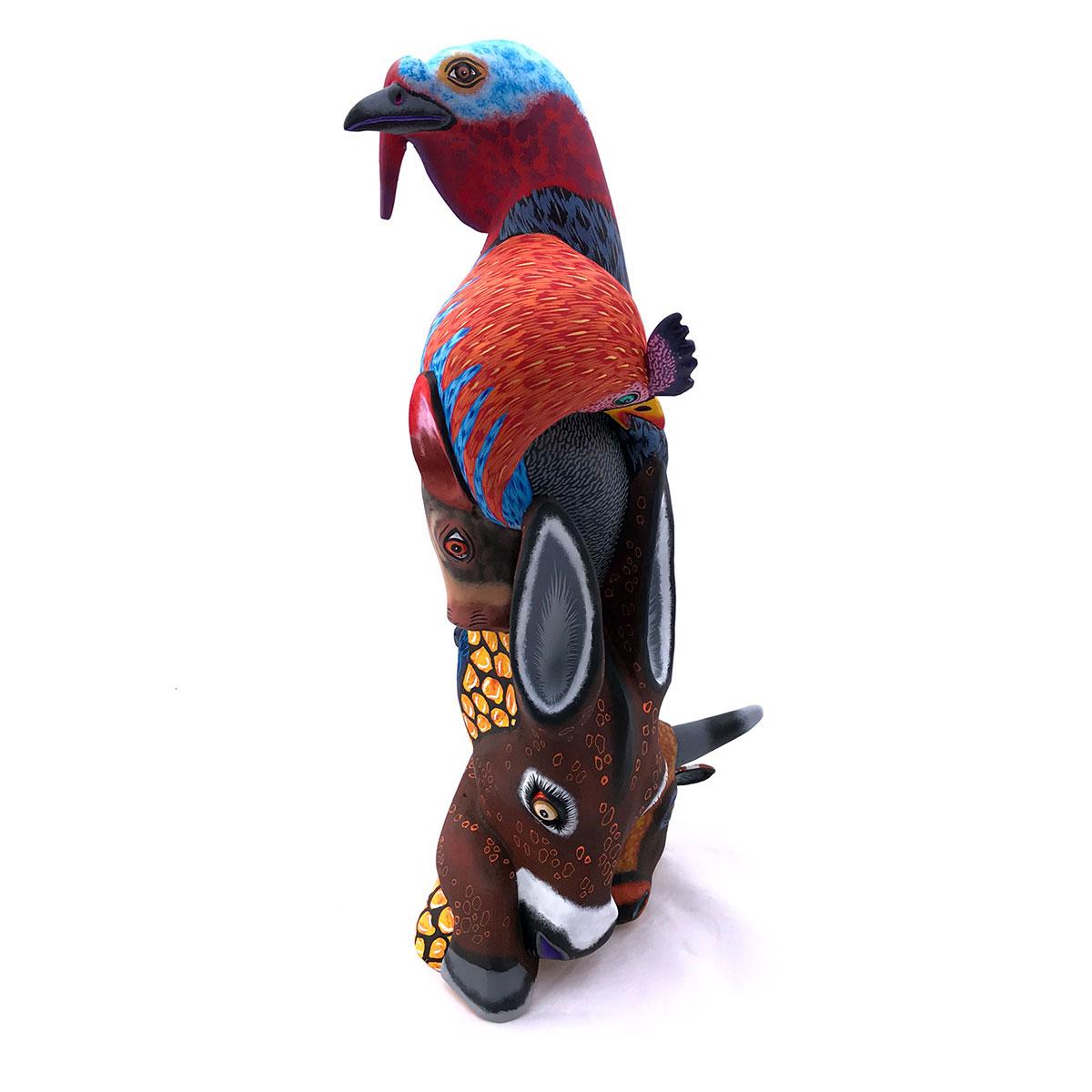 Eleazar Morales Eleazar Morales: Stunning Large Farm Animal Totem carving explorations
