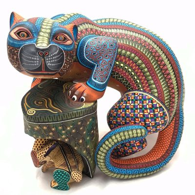 Manuel Cruz Manuel Cruz: Museum Quality Single Piece Jaguar and Rabbit Cats