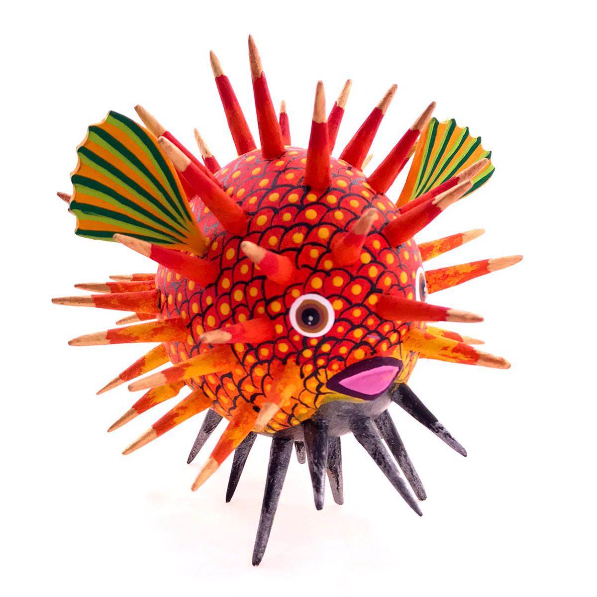 Gaspar Calvo Gaspar Calvo: Orange Whimsical Puffer Fish Fish