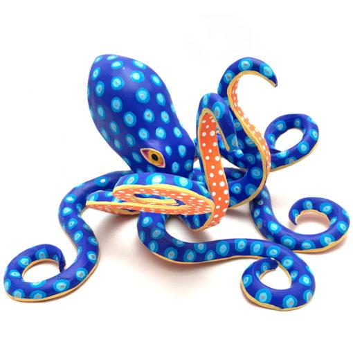Moises Jimenez & Oralia Cardenas Moises Jimenez & Oralia Cardenas: Rare Blue Yellow Octopus Classic Style