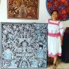 Wixárika (Huichol) Art Luciana Benitez Renteria: Premier Kauyumarie (Deer God) Huichol Yarn Painting – Direct from Mexico Huichol