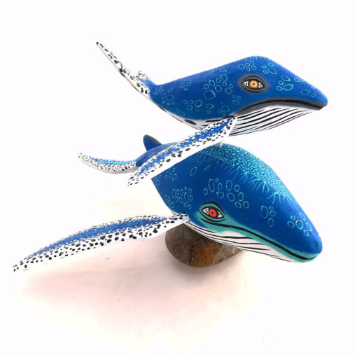 Eleazar Morales Eleazar Morales: Humpback Whale and Baby on Fossilized Coral Base Baby Animals