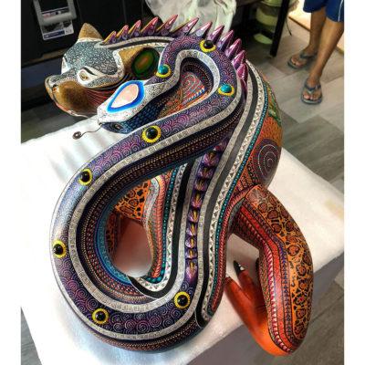 Manuel Cruz Manuel Cruz: Stunning Museum Quality Jaguar, Iguana, Serpient Fusion Manuel Cruz