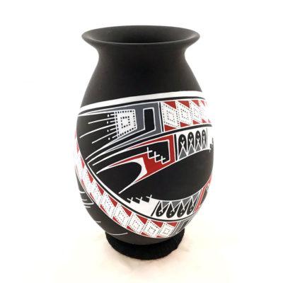 Aide Gonzalez Aide Gonzalez: Exquisite Small Black Matte Pot Polychrome