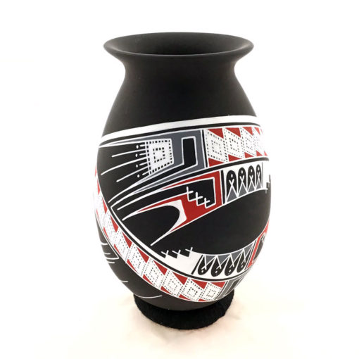 Aide Gonzalez Aide Gonzalez: Exquisite Small Black Matte Pot Polychrome