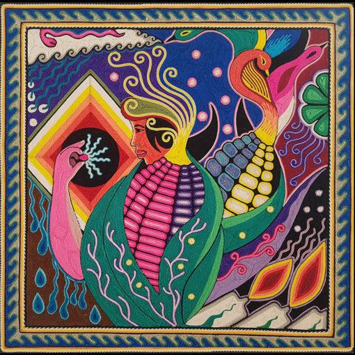 Wixárika (Huichol) Art Neikame: Premier Very Fine Huichol Yarn Painting – Direct From Mexico Huichol