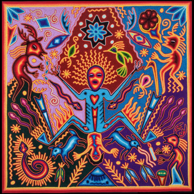 Wixárika (Huichol) Art Luciana Benitez Renteria: Huichol Yarn Painting – Direct from Mexico Huichol