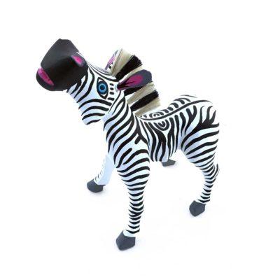 Moises Jimenez & Oralia Cardenas Josue Ortocha: Zebra with Agave Fiber Mane and Tail Zebra