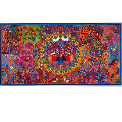 Wixárika (Huichol) Art Hilario Chavez Carrillo: Premier 4 x 8 Dream of the Gods / El Sueño de los Dioses Huichol