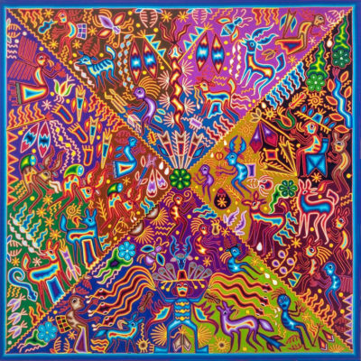 Wixárika (Huichol) Art Hilario Chavez Carrillo: Premier 4 x 4 Dream of the Gods / El Sueño de los Dioses Huichol