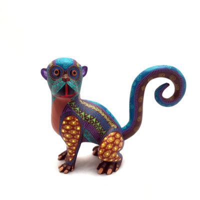 Oaxacan Wood Carving Abundio Munoz: Small Monkey Monkey
