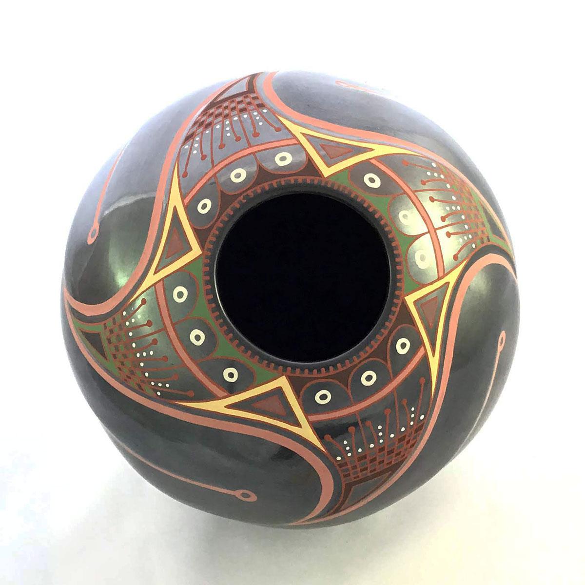 Cesar Dominguez Nunez Cesar Dominguez Nuñez: Colorful Mid-sized Pot Mata Ortiz Pottery