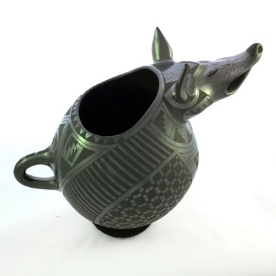 Coyote Felix Ortiz:  Rare Collector's Piece, Effigy Coyote Pot Effigy