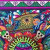 Wixárika (Huichol) Art Luis Castro: Four Directions Premier Huichol Yarn Painting Huichol