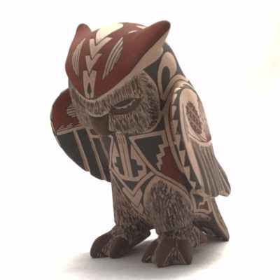 Tomas Quintana Tomas Quintana: Owl Effigy Mata Ortiz Pottery
