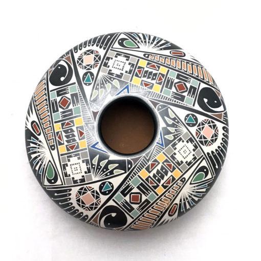 Mata Ortiz Pottery, Chihuahua Oscar Quezada Jr. : Multi-Color Modern Paquimé Mata Ortiz Pottery