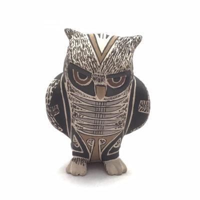 Nature Tomas Quintana: Owl Effigy Mata Ortiz Pottery